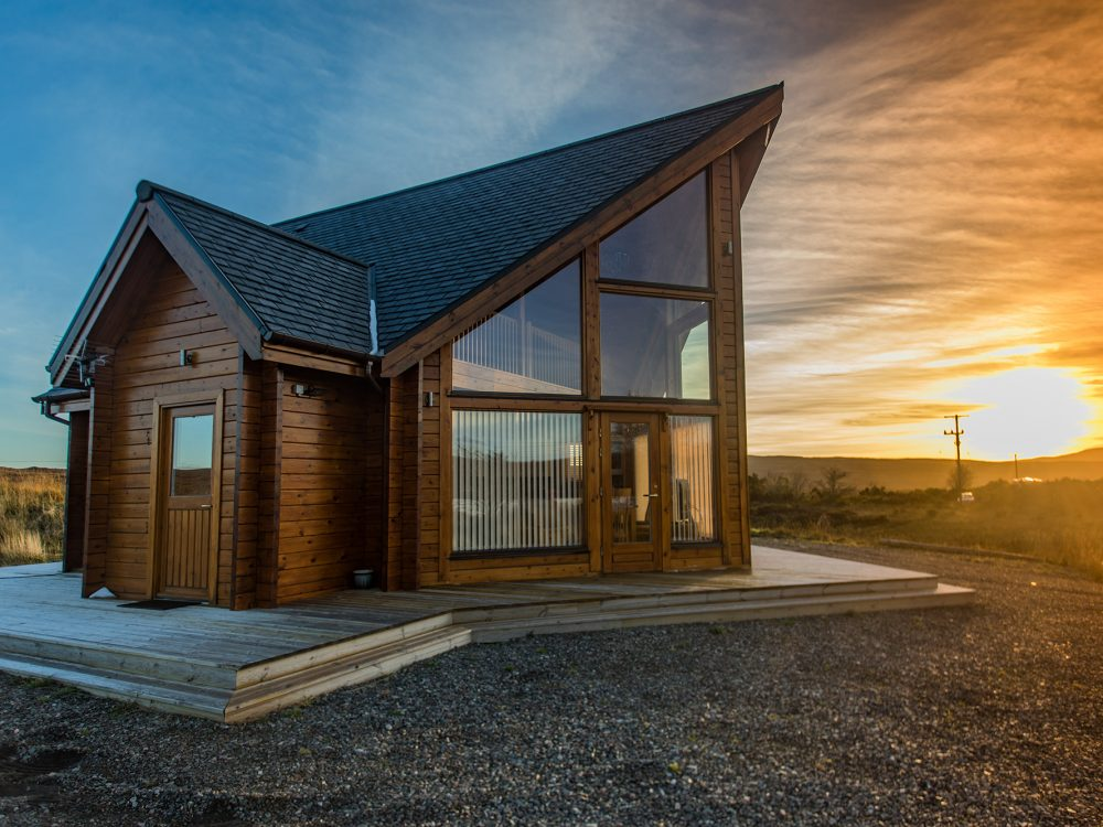 Exterior Lorien Lodge Skye accommodation